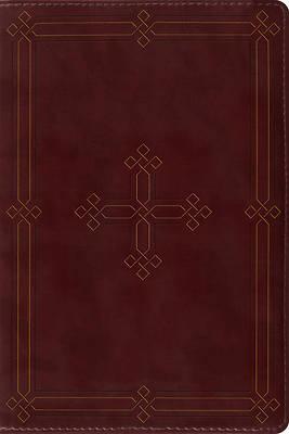 Picture of ESV Study Bible, Personal Size (Trutone, Crimson, Engraved Cross Design)