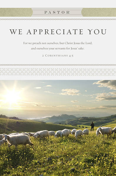 For We Preach Pastor Corinthians 4:5 Appreciation Regular Size Bulletin