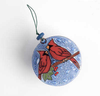 Picture of Cardinal on Cherry Tree Ornament