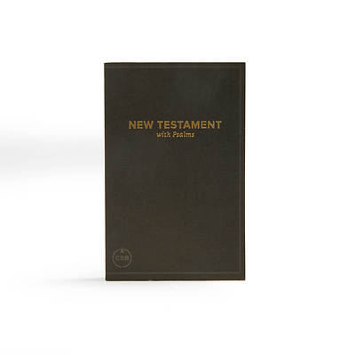 Picture of CSB Pocket New Testament with Psalms, Black Trade Paper