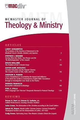 McMaster Journal of Theology and Ministry, Volume 9