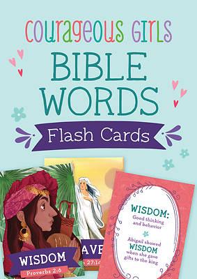 Picture of Courageous Girls Bible Words Flash Cards