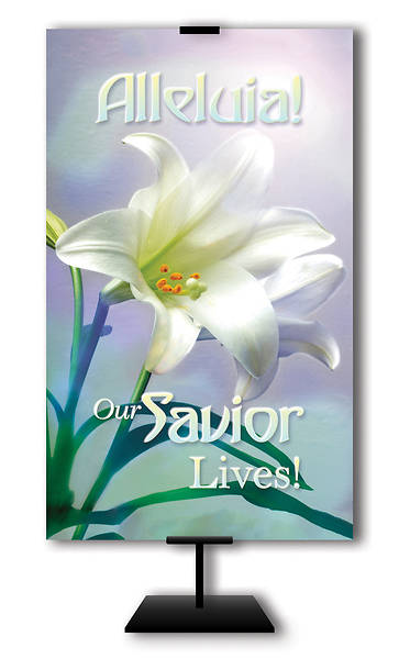Alleluia Our Savior Lives 3 x 5 Easter Banner