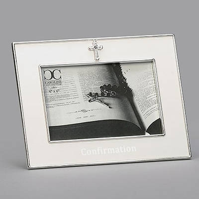 Picture of Confirmation Cream Frame with Cross