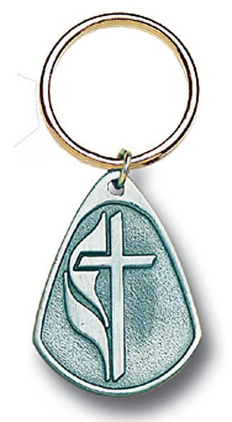 Picture of United Methodist Pewter Key Tag