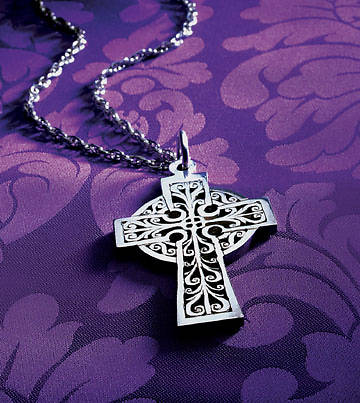 "Clergy Cross, UMC Bishops 3"" Sterling Silver, includes chain"