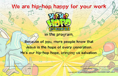 Vacation Bible School 2013 Hip-Hop Hope Pkg of 10 Leader Certificate VBS