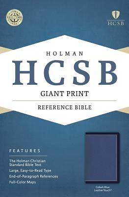 HCSB Giant Print Reference Bible, Cobalt Blue Leathertouch