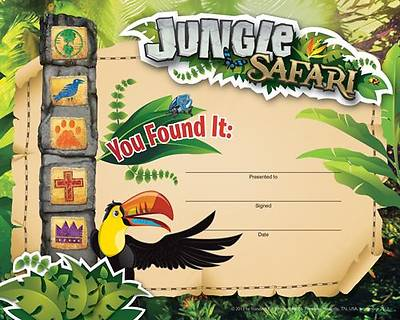 Standard VBS Jungle Safari Recognition Certificates (12)