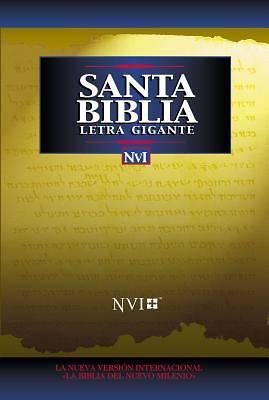Picture of Bíblia NVI Santa Letra Gigante Imit Negro