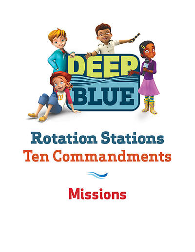 Picture of Deep Blue Rotation Station: Ten Commandments - Missions Station Download