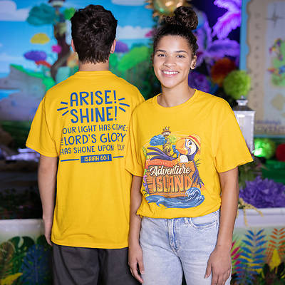 Picture of Vacation Bible School (VBS) 2021 Discovery on Adventure Island Child T-shirt Size X-Large