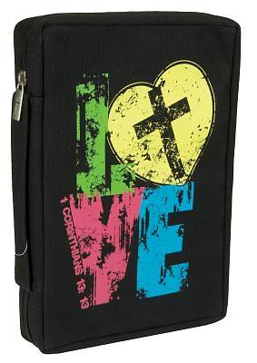 Love Large Black Bible Cover