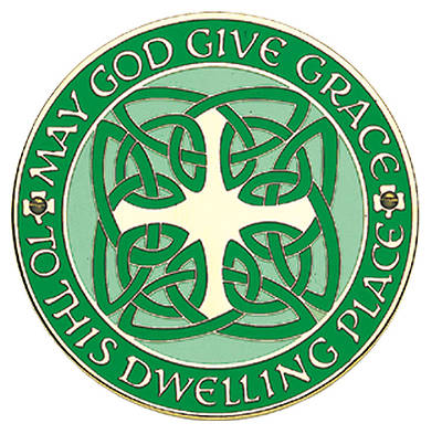 Picture of Celtic Home Blessing Door Sign