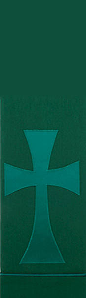 Green Pure and Simple Cross Stole