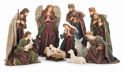 "Picture of 12"" Traditional 11pc Nativity"