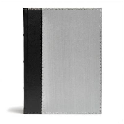 CSB Study Bible, Gray/Black Cloth Over Board
