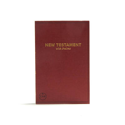 Picture of CSB Pocket New Testament with Psalms, Burgundy Trade Paper