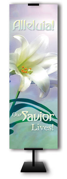 Alleluia Our Savior Lives 2x6 Easter Banner