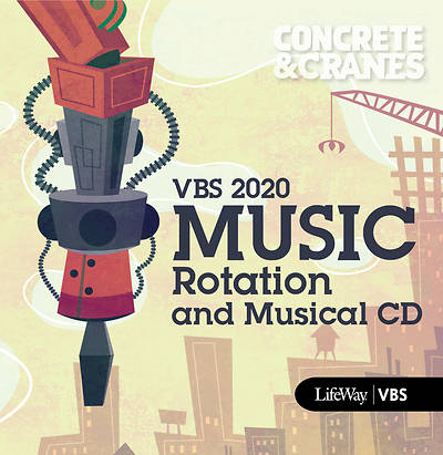 Picture of Vacation Bible School (VBS) 2020 Concrete and Cranes Music Rot And Musical CD