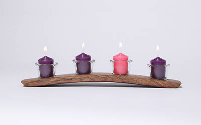 Picture of Decorative Barrel Art Advent Candle Holder