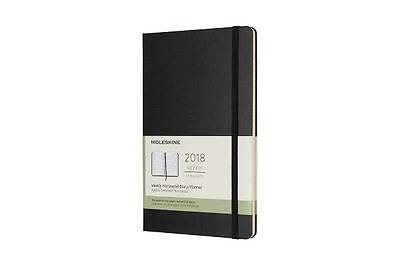 Moleskine 12 Month Weekly Horizontal Planner, Large, Black, Hard Cover (5 X 8.25)