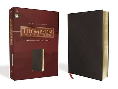 Picture of Nkjv, Thompson Chain-Reference Bible, Bonded Leather, Black, Red Letter