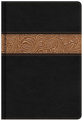 NKJV Reader's Bible, Black/Brown Tooled Leathertouch