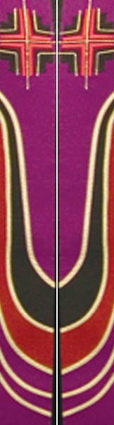 Ascension Series Purple Stole with Bold Cross