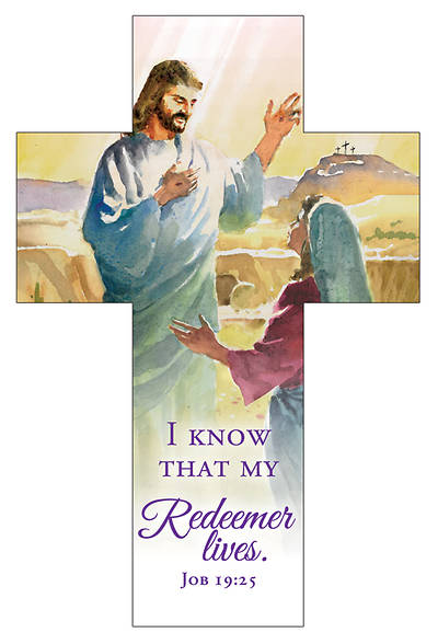 Picture of I Know That My Redeemer Lives Easter Cross Bookmark (Pkg of 25)