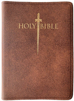 Picture of KJV Sword Study Bible Personal Size Large Print Acorn Bonded Leather Indexed