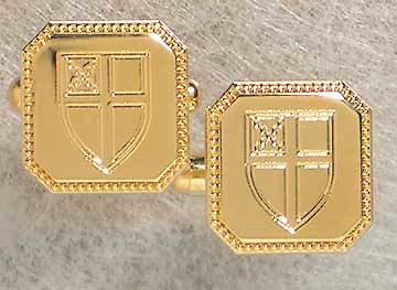 Cufflinks Gold Plated Brass Square Episcopal