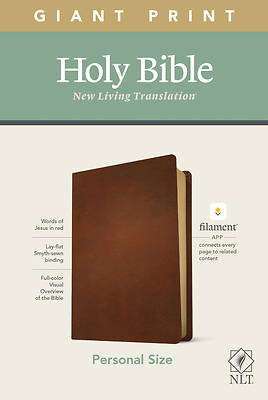 Picture of NLT Personal Size Giant Print Bible, Filament Enabled Edition (Genuine Leather, Brown)