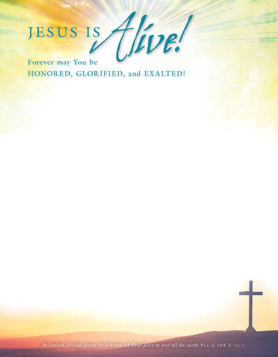 Jesus is Alive! Easter Letterhead