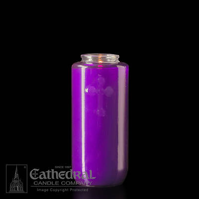 Cathedral 5-Day Glass Offering Candle - Purple