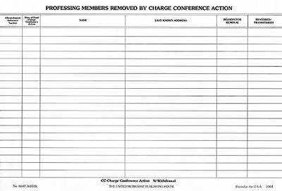 Picture of Professing Members Removed by Charge Conference Action (Pkg of 50)