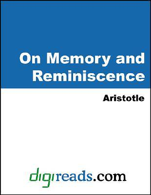 On Memory and Reminiscence [Adobe Ebook]
