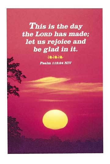 Picture of This is the Day the Lord has Made Postcard (Package of 25)