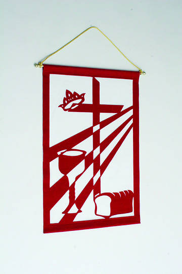 Communion Liturgical Wall Hanging Kit RED - 24X36
