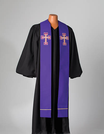 Abbott Hall Contemporary Double Overlay Cross Stole