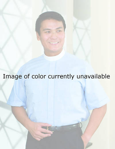 Signature Short Sleeve Clergy Shirt with Neckband Collar Black - 16 1/2
