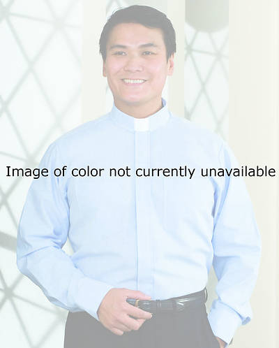 "Signature Long Sleeve Clergy Shirt with Tab Collar Black - 18"" - 33"" - 34"""