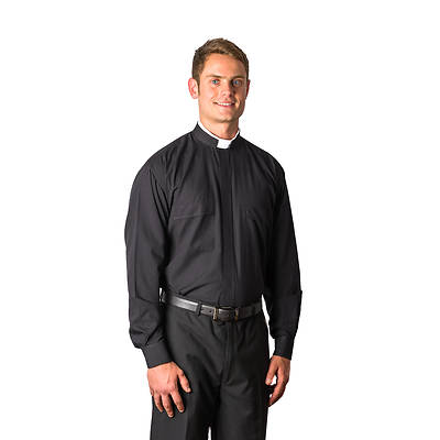 MDS Long Sleeve Tonsure Clergy Shirt