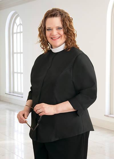 Picture of WomenSpirit 3/4 Sleeve Shapely Shirt - Neckband Collar