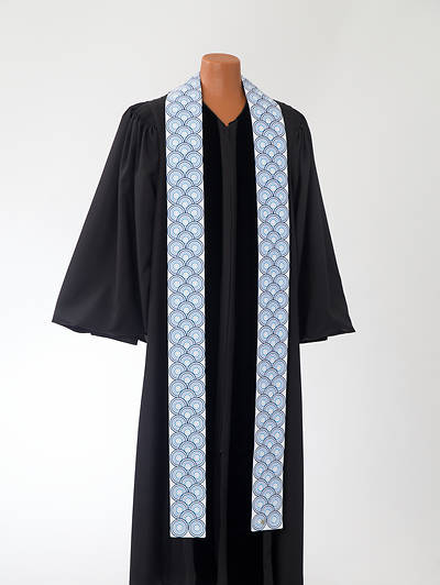 Picture of Blue Concentric Stole