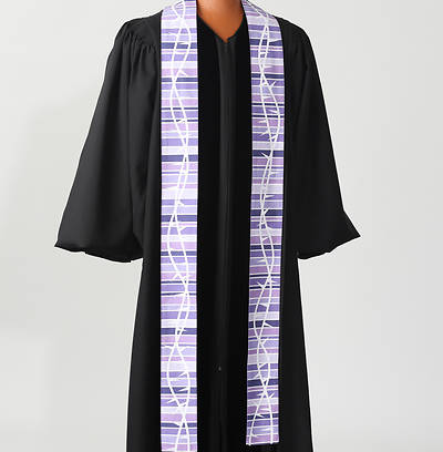 Picture of Purple Botanical Stole