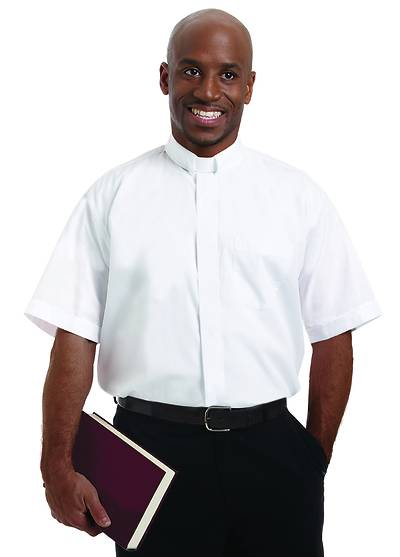 Murphy Men's Short Sleeve Tab Collar Clergy Shirt