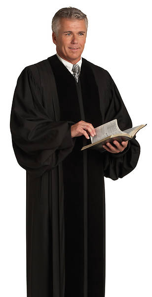 Murphy Quick-Ship John Wesley S-9 Black Pulpit Robe