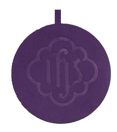Picture of Artistic Offering Plate with IHS Pad - Medium Brasstone - Purple