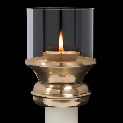 Picture of Brass Draft Resistant Follower for Wax Candles